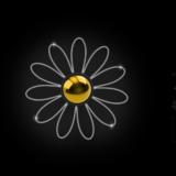 114_Daisy_Flower_RL_W_gold